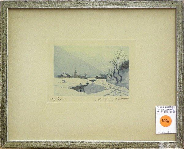 6005: Etching winter landscape