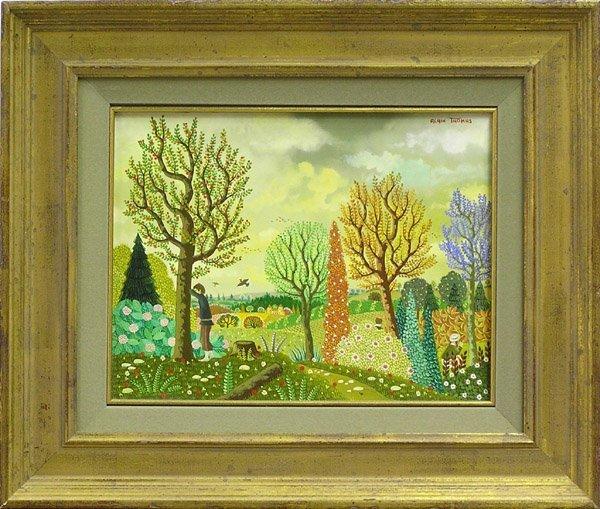 6008: Painting Alain Thomas French landscape