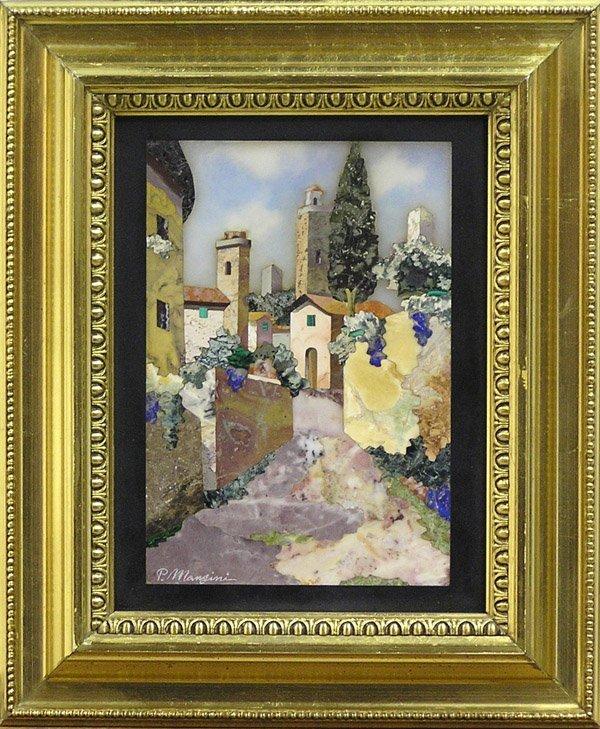 6010: Italian pietre dure mosaic Mangini