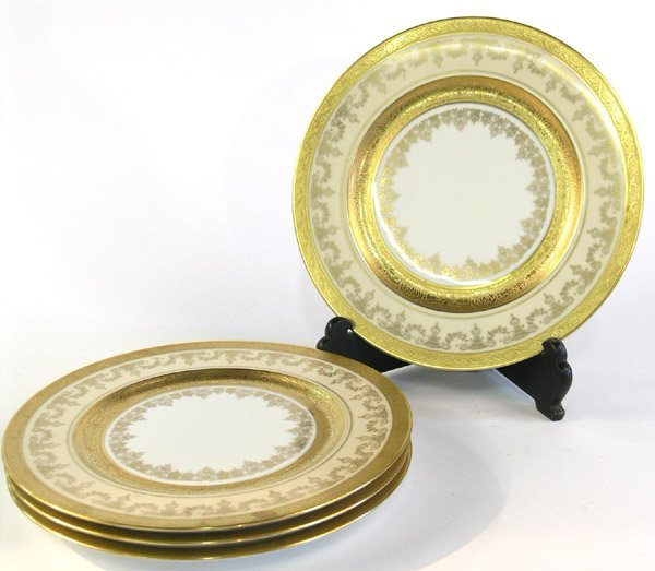 6014: Heinrich Bavarian Porcelain Gilt Plate