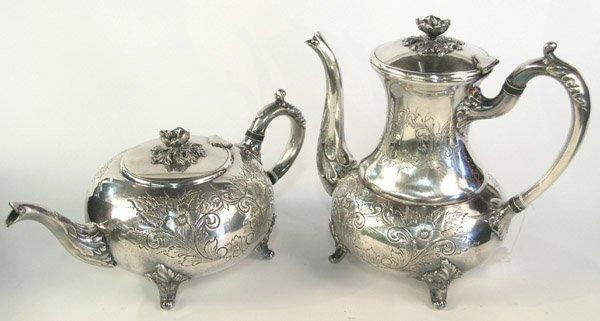 6015: Silverplate coffee teapots