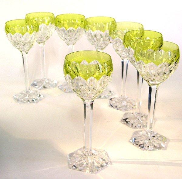 6017: Val St. Lambert wine goblets French