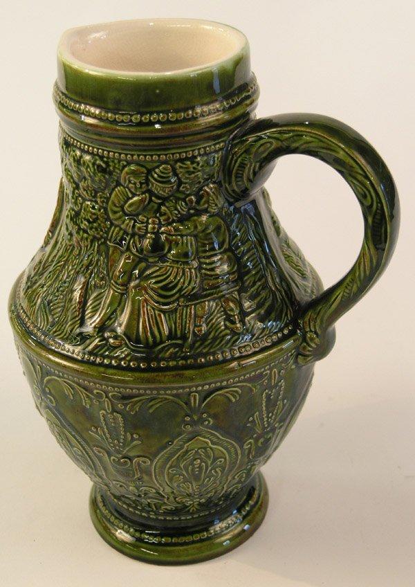 6020: Majolica glazed pottery pitcher
