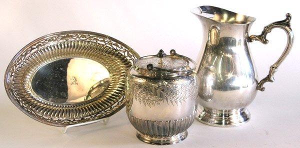 6023: Silverplate Wilkinson bowl biscuit jar