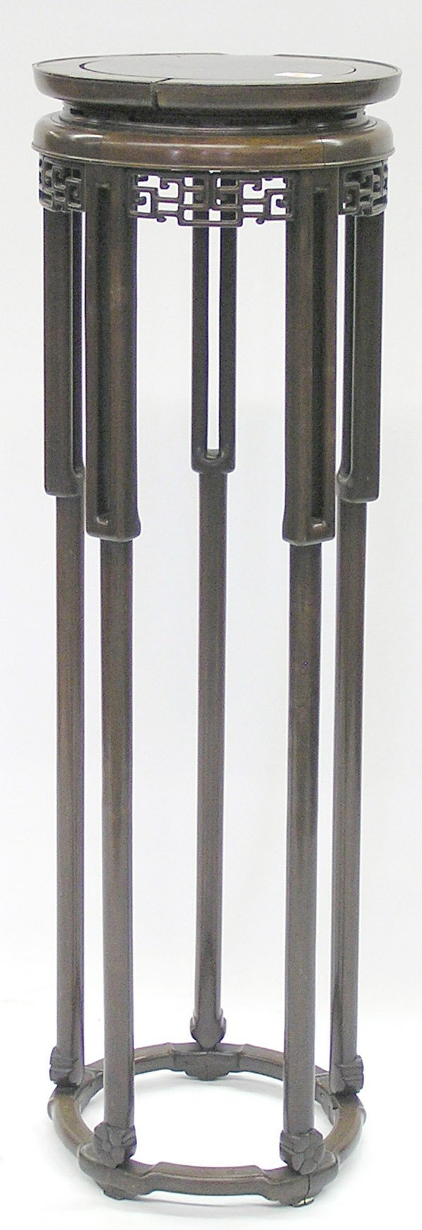 6420: Chinese Tall Hardwood Circular Stand