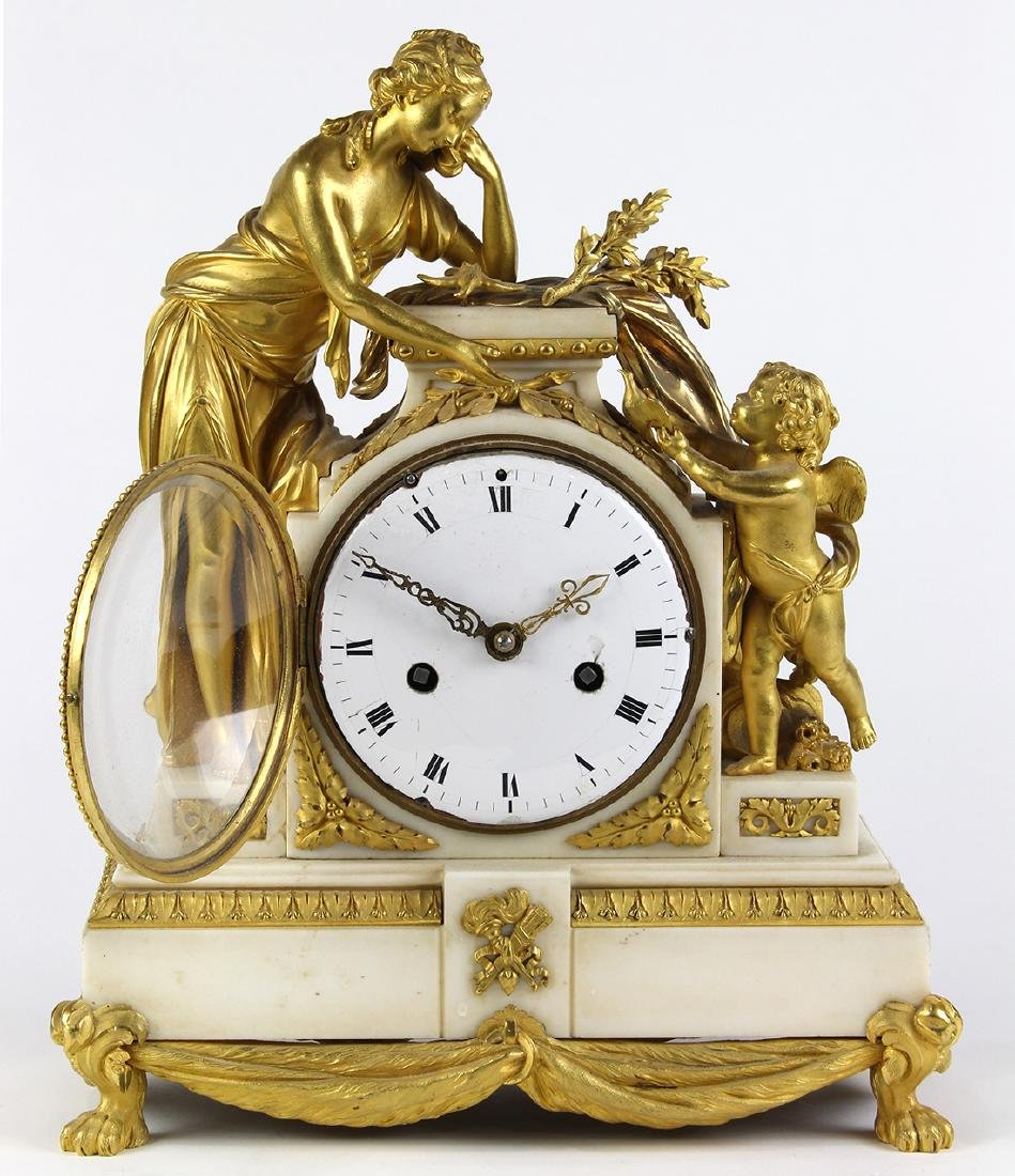 French ormolu mounted clock, the well cast case - 2