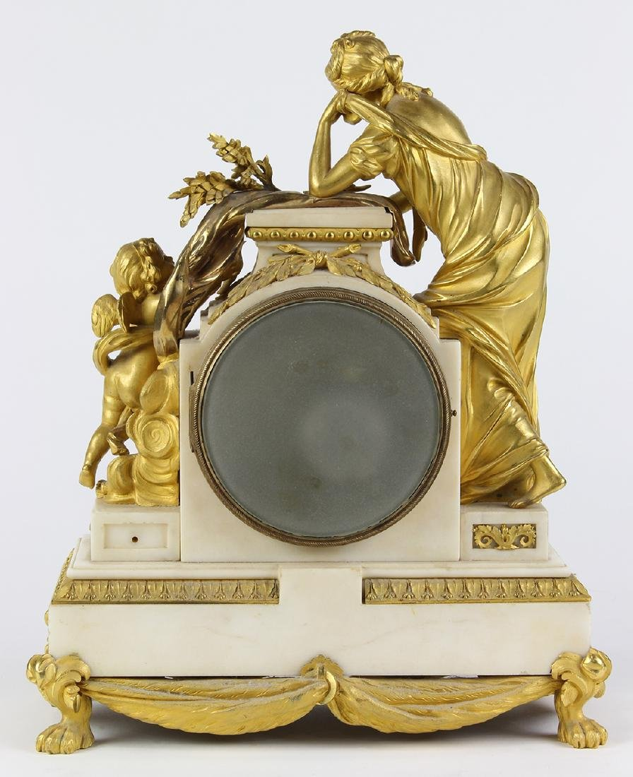 French ormolu mounted clock, the well cast case - 5