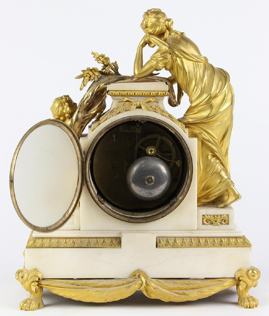 French ormolu mounted clock, the well cast case - 6