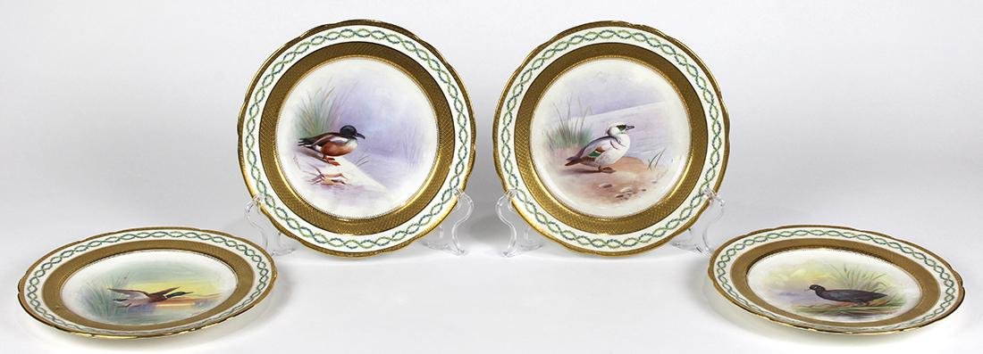 (lot of 4) English Minton game plates