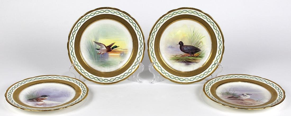(lot of 4) English Minton game plates - 2