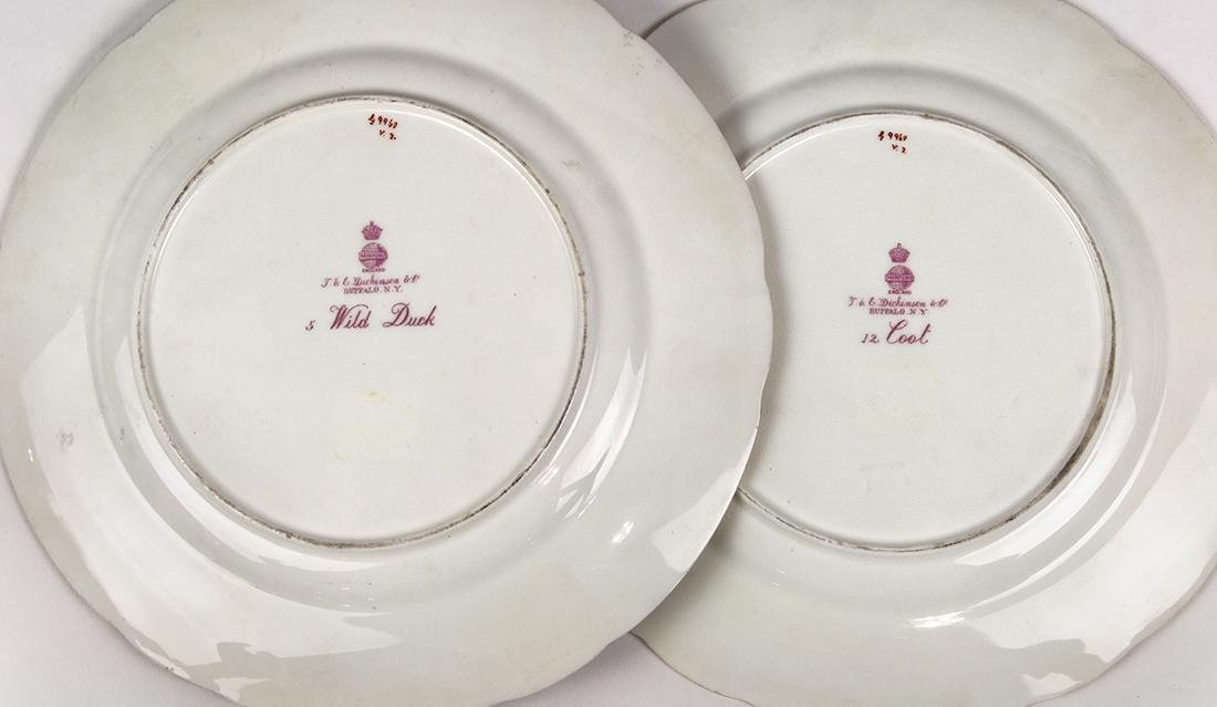 (lot of 4) English Minton game plates - 3