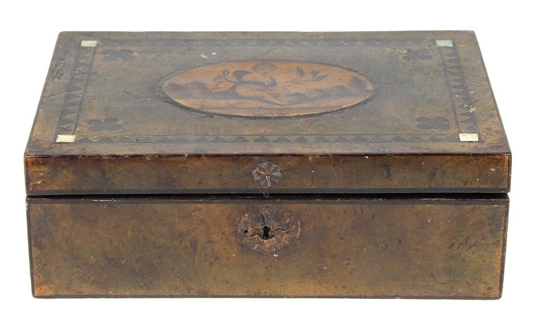 Continental inlaid fitted box - 3