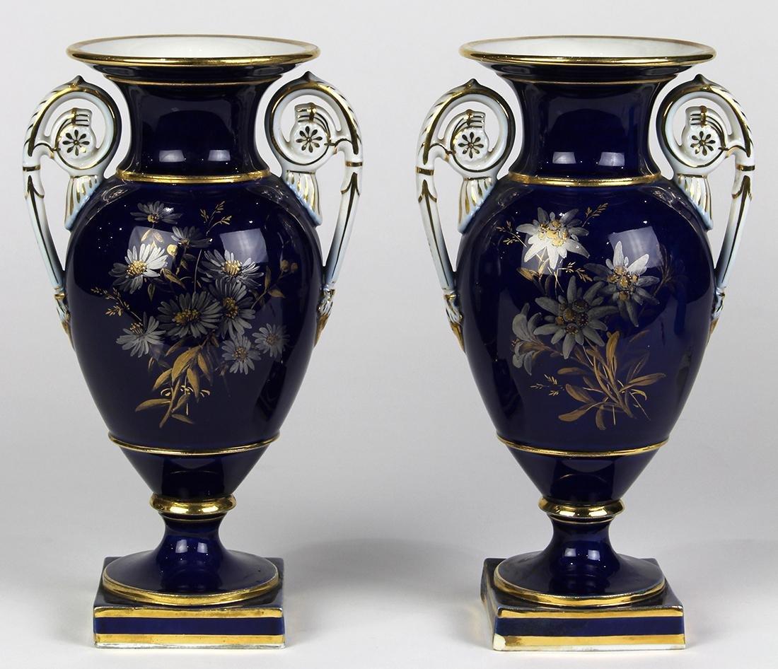 (lot of 2) Meissen porcelain urns - 2