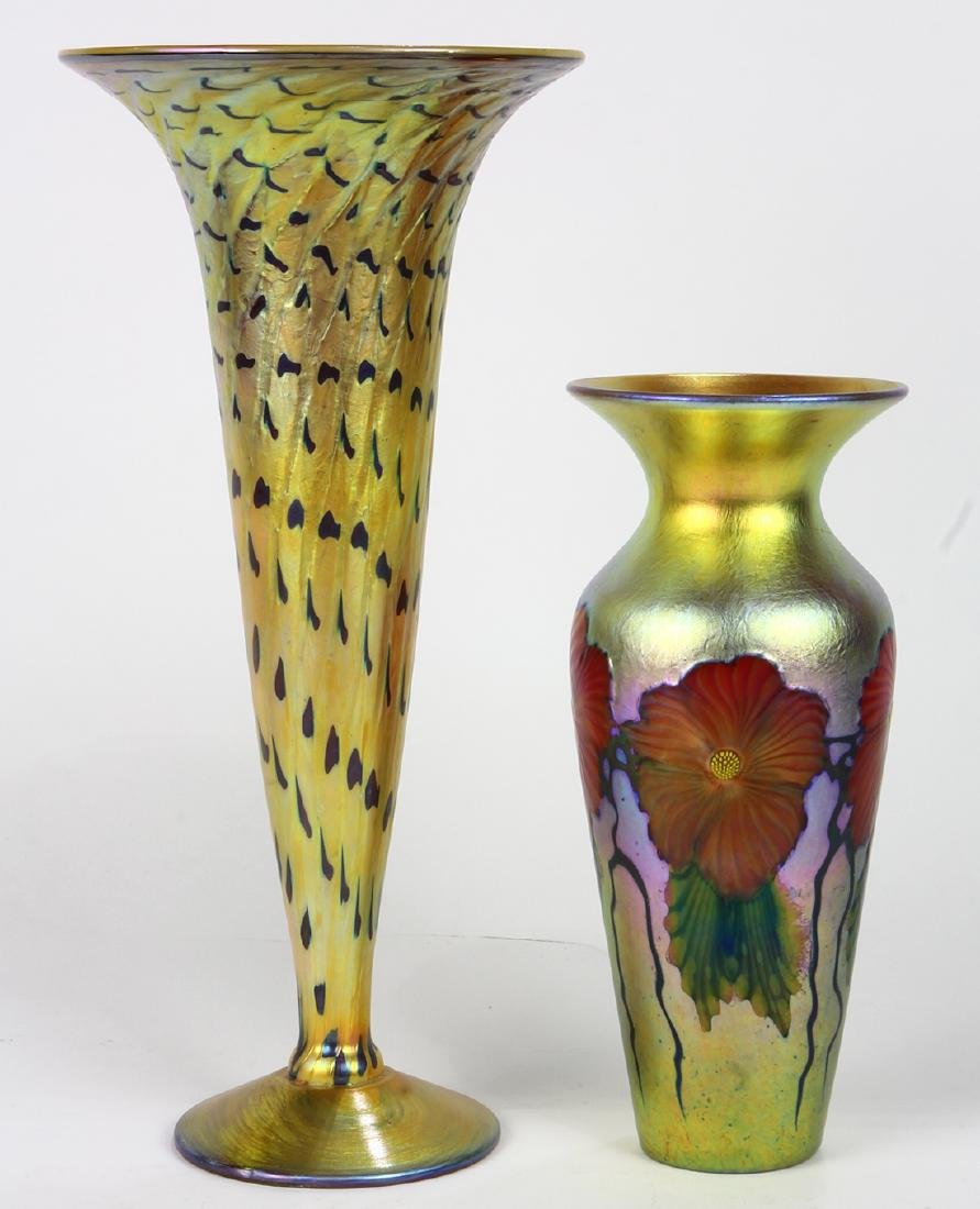 (Lot of 2) Lundberg Studios art glass group