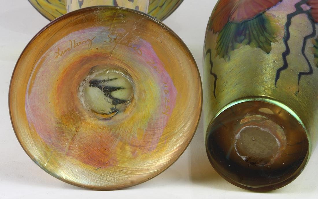 (Lot of 2) Lundberg Studios art glass group - 2