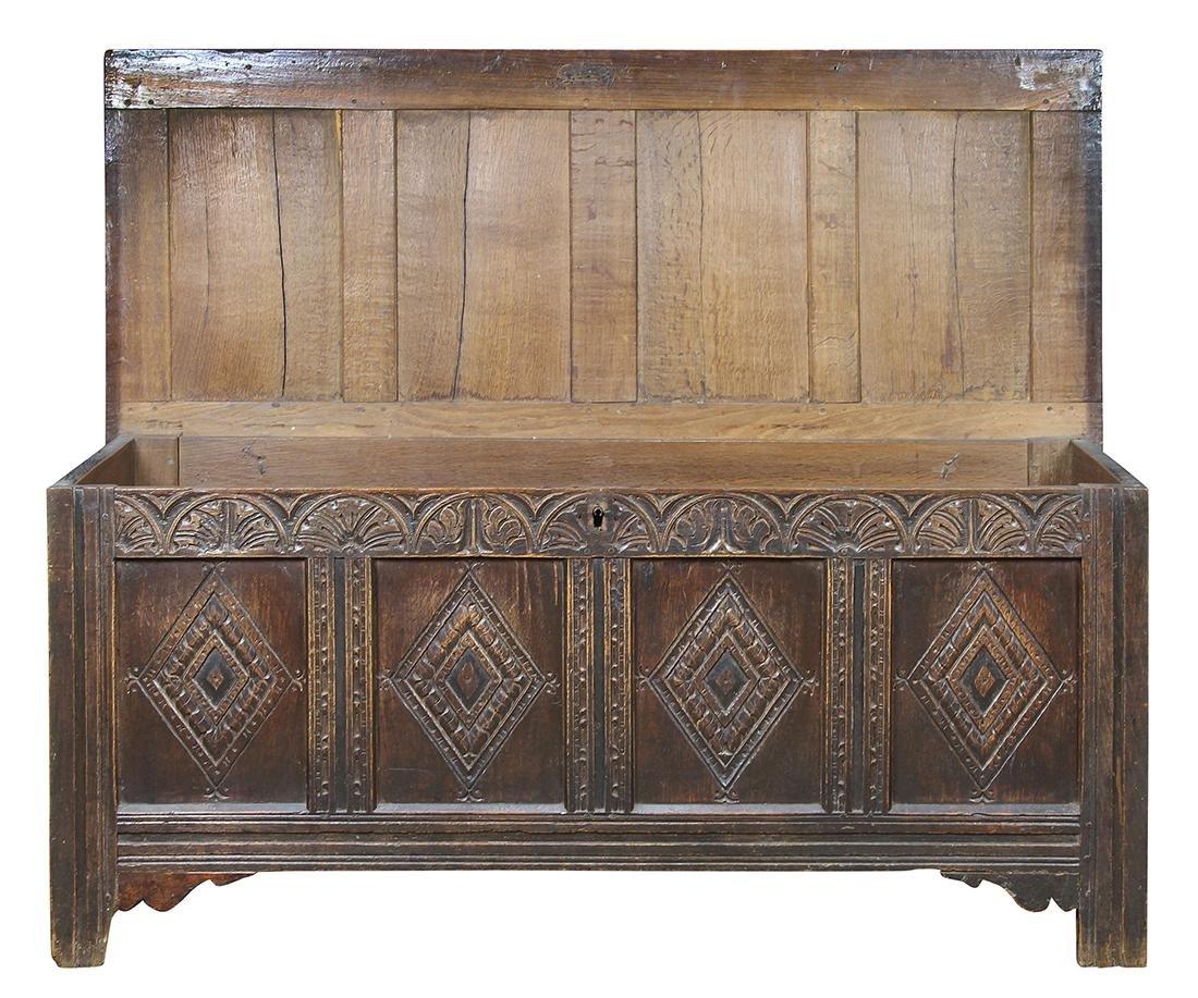English oak coffer circa 1780 - 2