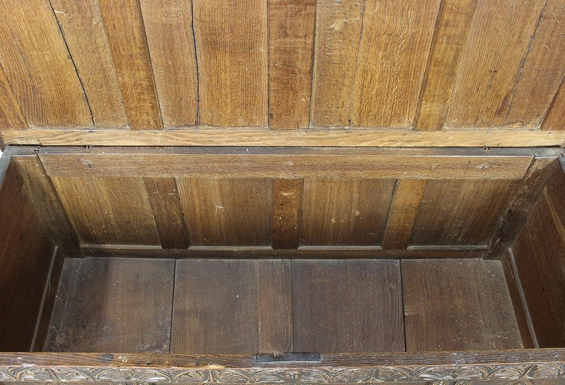 English oak coffer circa 1780 - 5