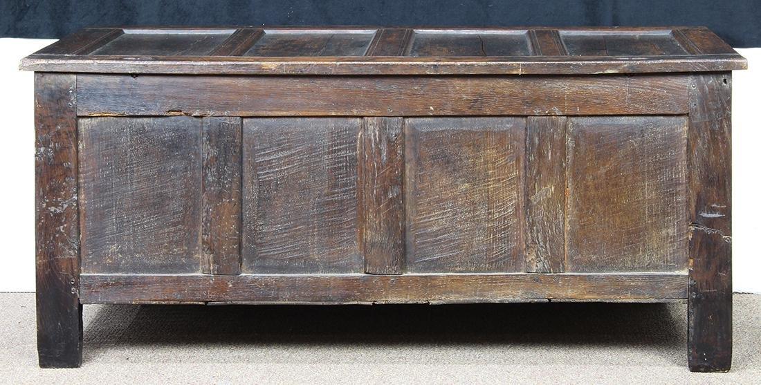 English oak coffer circa 1780 - 6