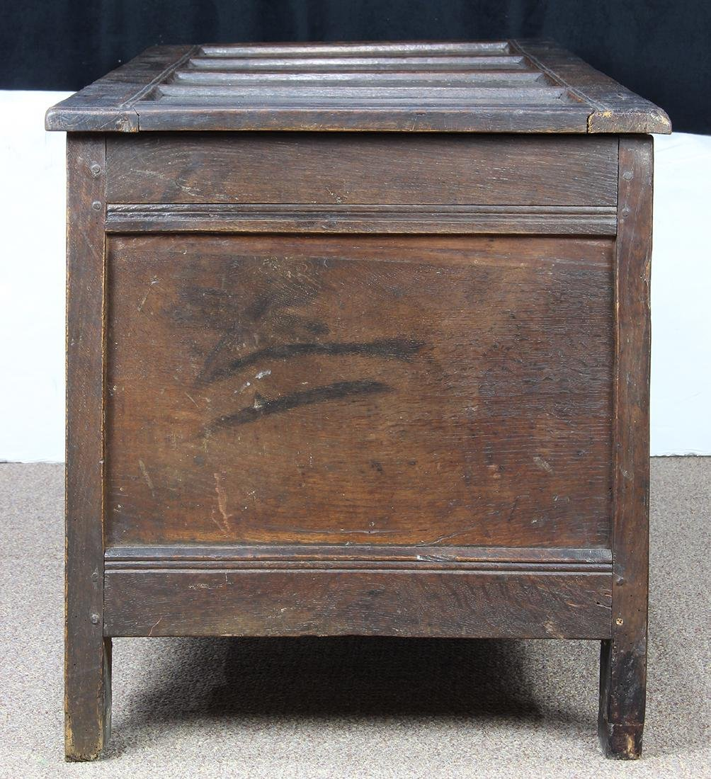English oak coffer circa 1780 - 7