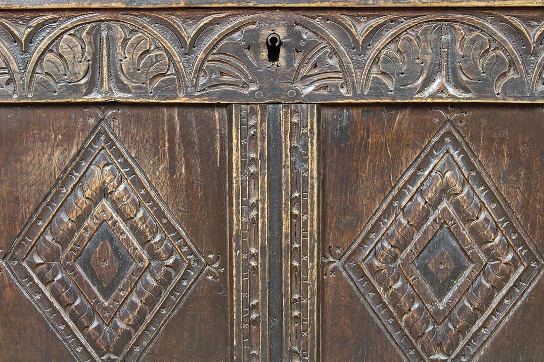 English oak coffer circa 1780 - 8