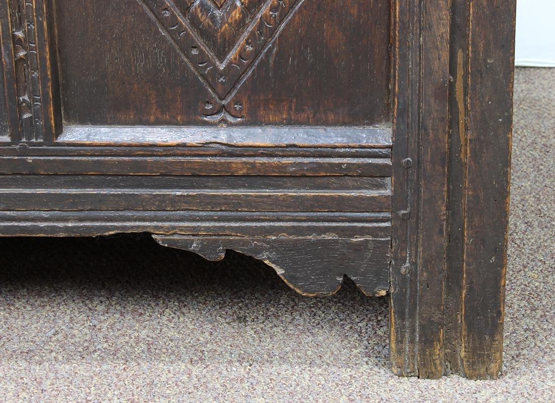 English oak coffer circa 1780 - 9