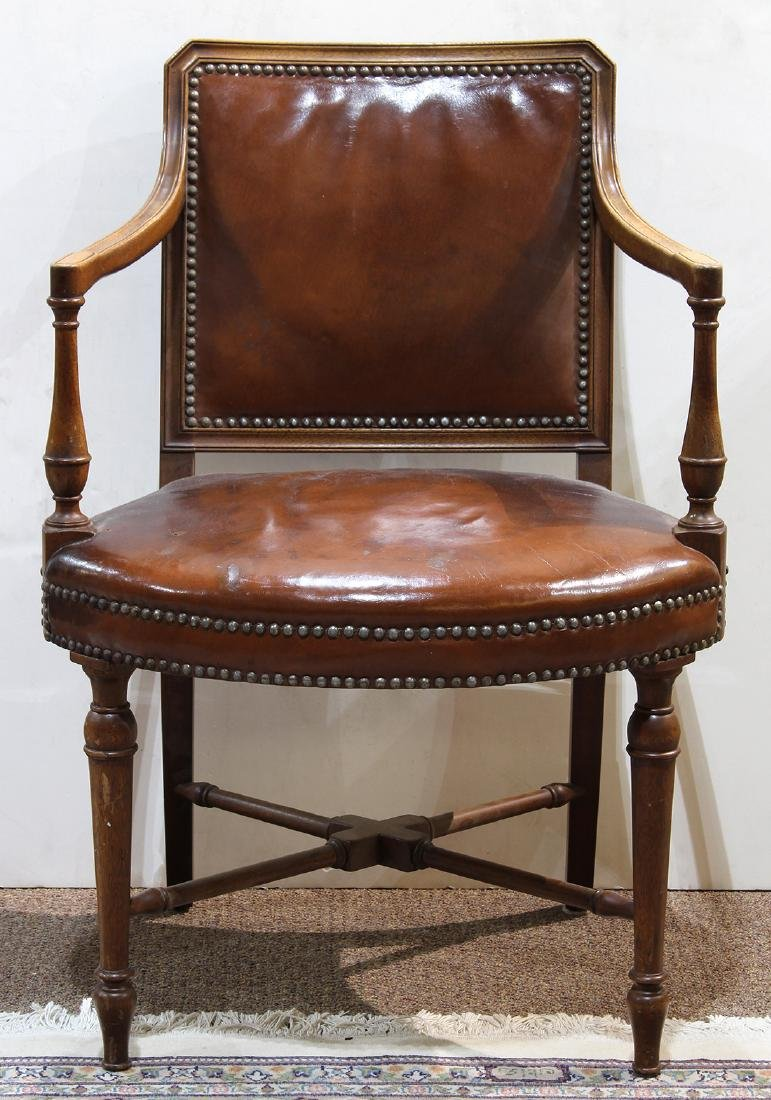 English mahogany armchair