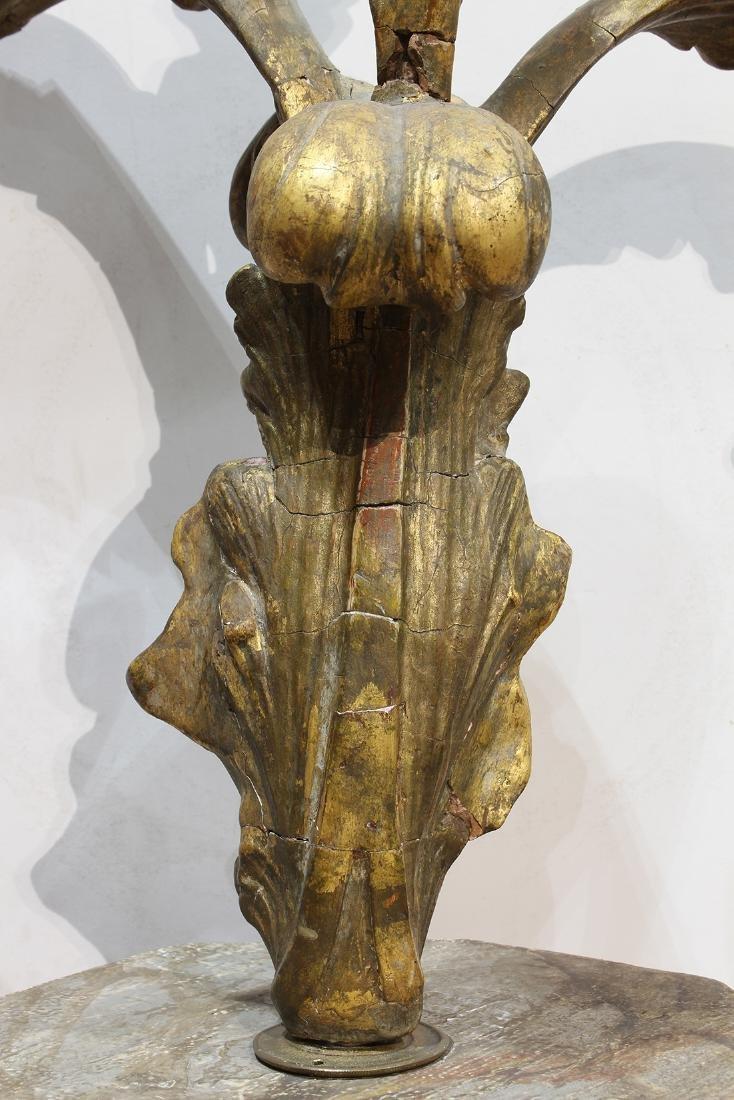 Continental giltwood carved candelabra - 4