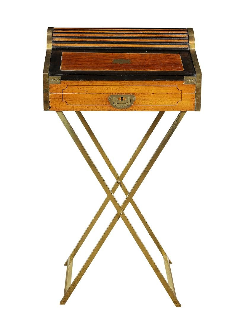 English Regency style campaign or traveling desk - 2