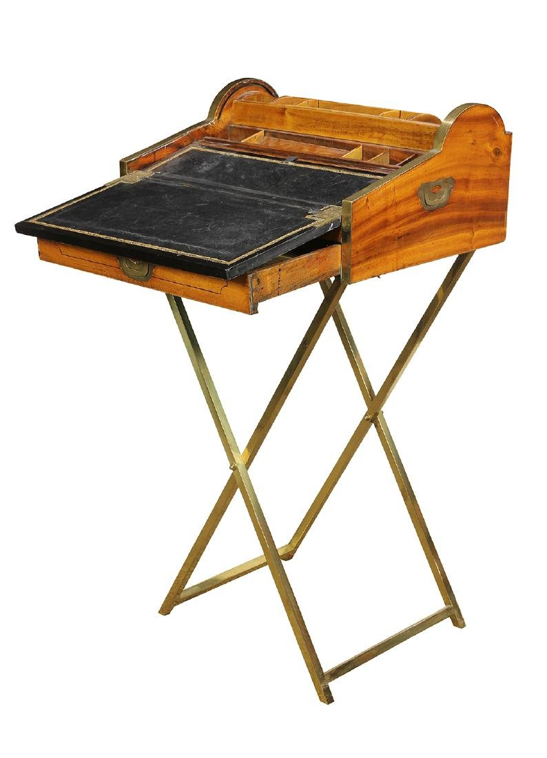 English Regency style campaign or traveling desk - 3