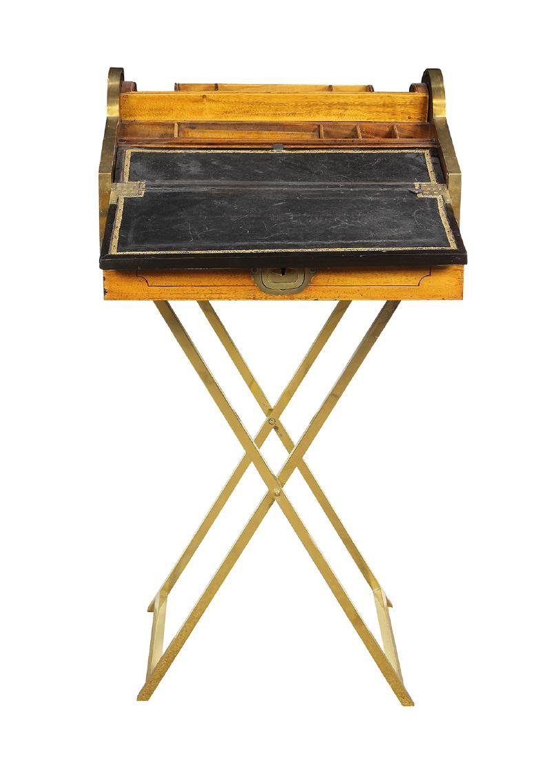 English Regency style campaign or traveling desk - 4