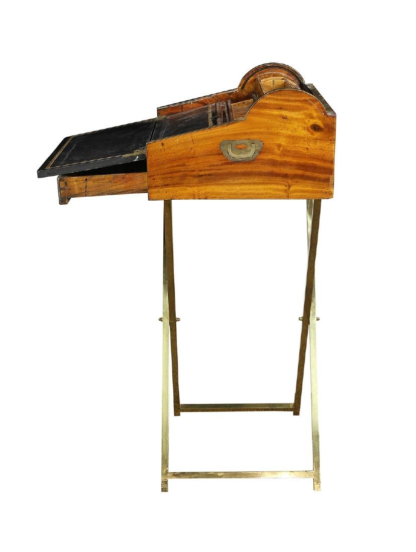 English Regency style campaign or traveling desk - 5
