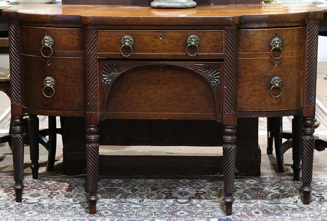 Sheraton mahogany sideboard, circa 1810, having a