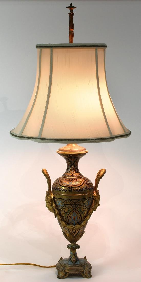 French Neoclassical style gilt and champlevé decorated