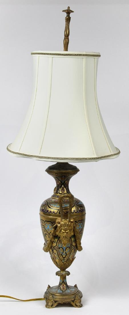 French Neoclassical style gilt and champlevé decorated - 2