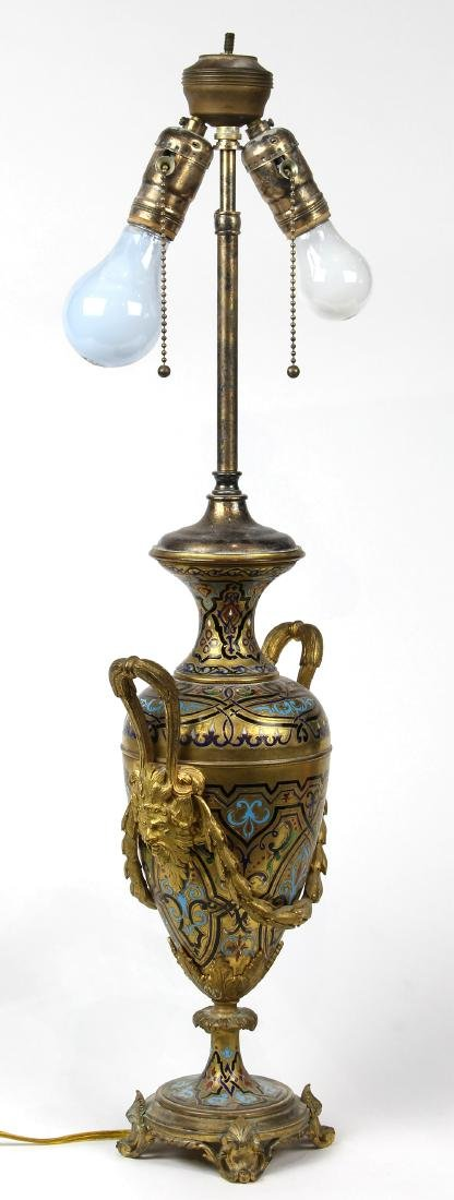 French Neoclassical style gilt and champlevé decorated - 3