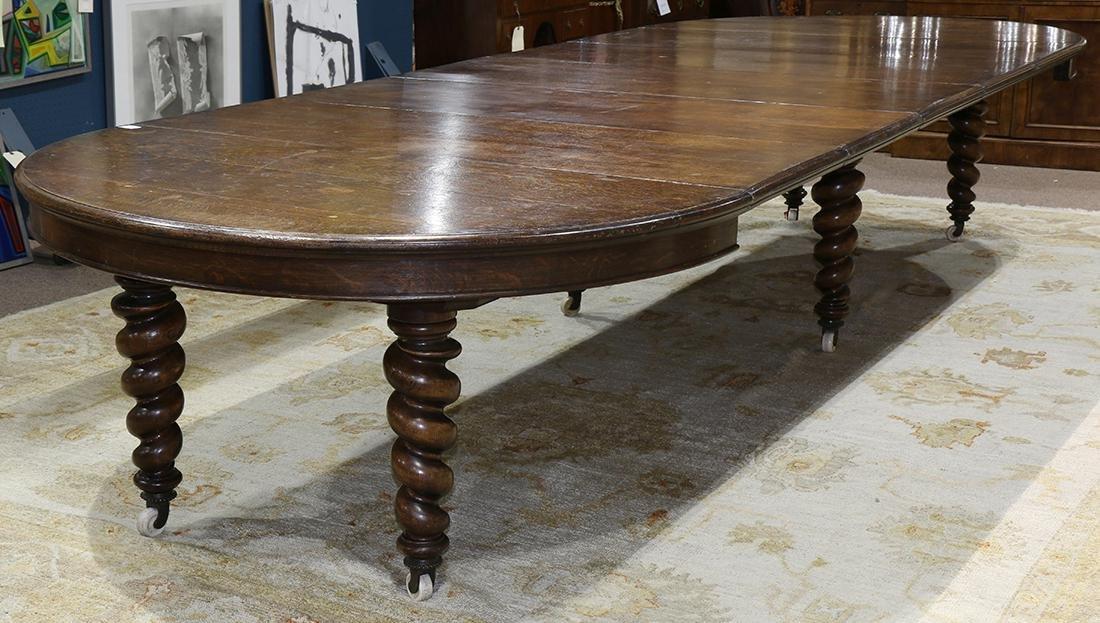 Quartersawn oak dining table