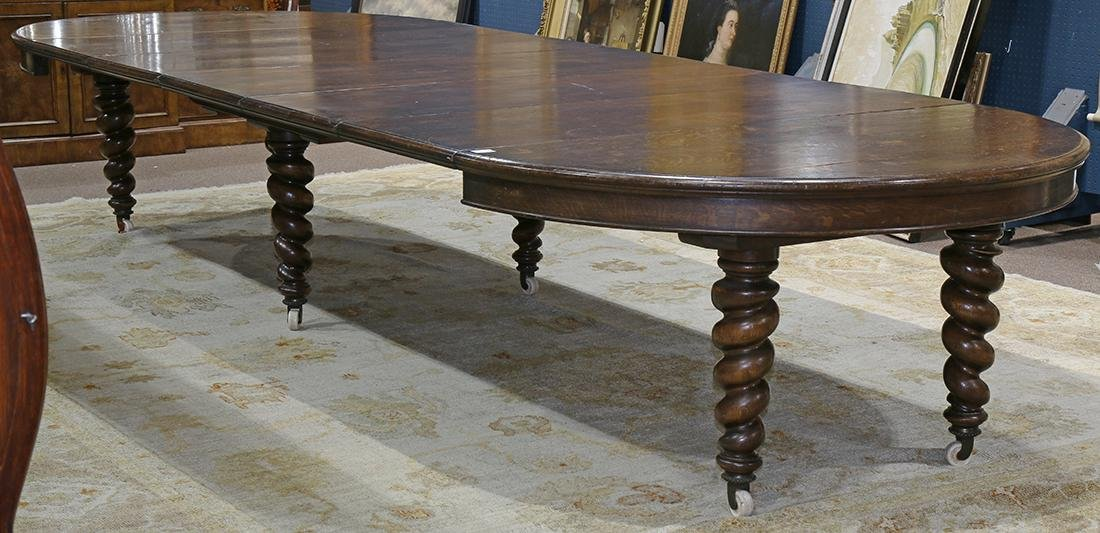 Quartersawn oak dining table - 2