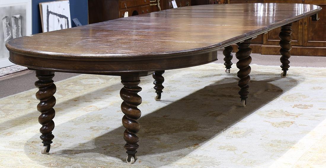Quartersawn oak dining table - 3