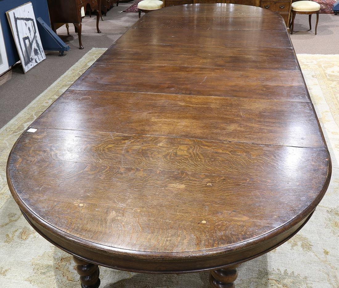 Quartersawn oak dining table - 4