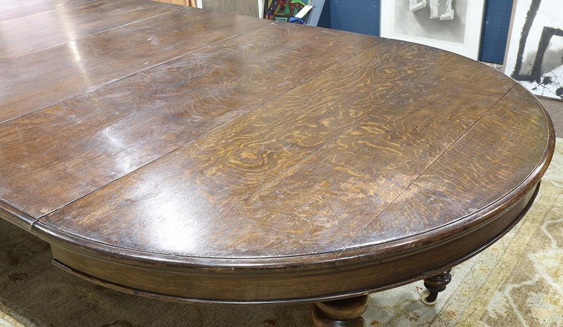 Quartersawn oak dining table - 5