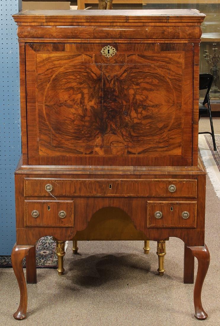 Queen Anne mahogany butler's desk