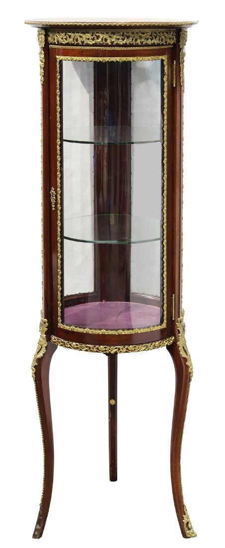Louis XV style ormolu and mahogany vitrine