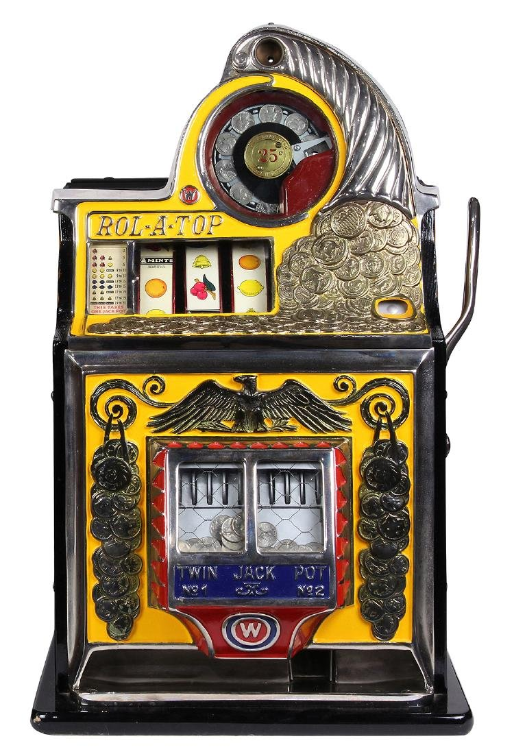 25 cent Watling Rol-A-Top slot machine, the three reel