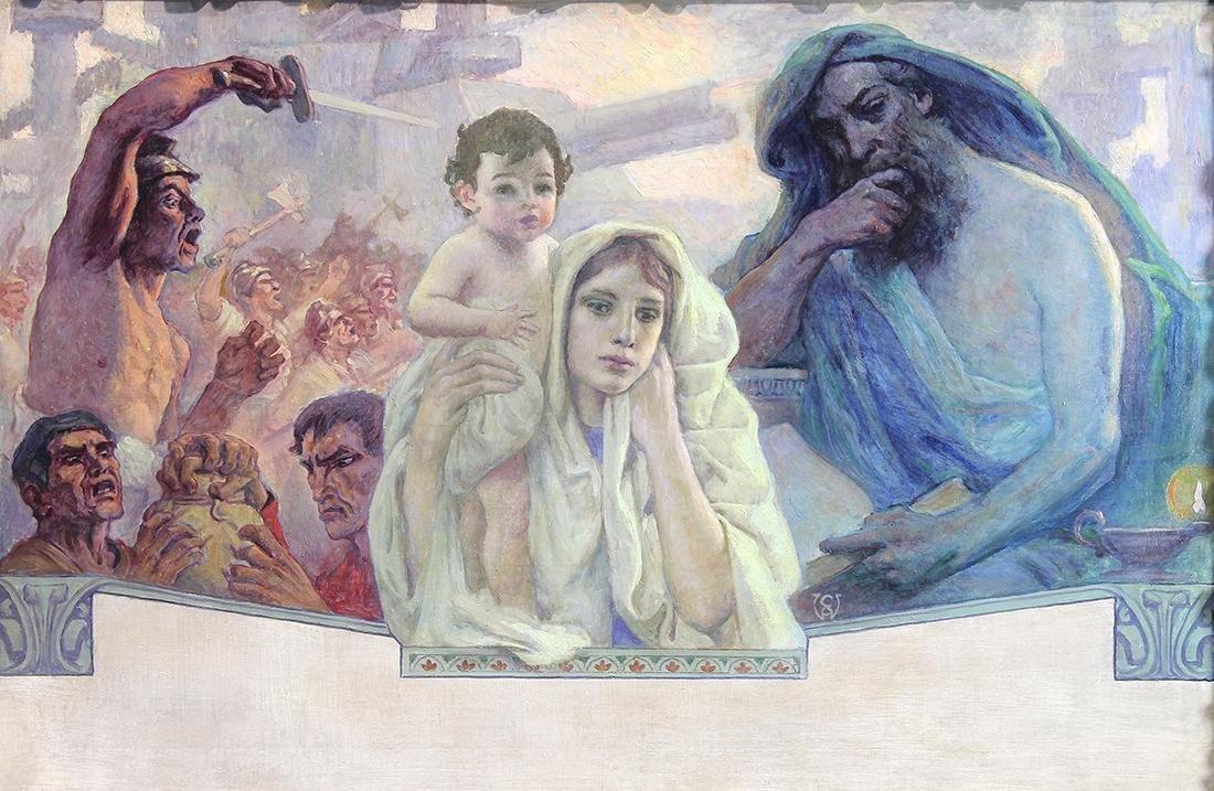 Painting, Charles Allen Winter
