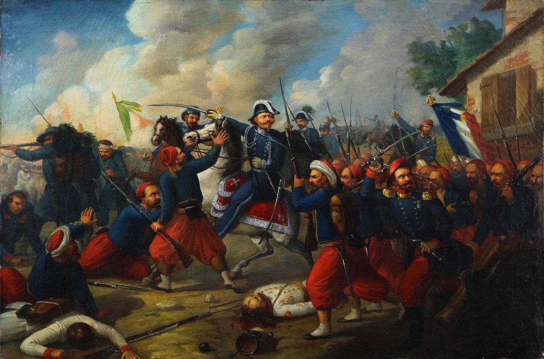 Painting, French and Italian Battle Scene, 1860