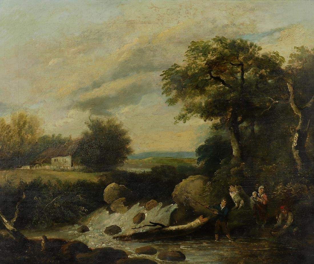 Painting, Follower of Salomon Van Ruysdael