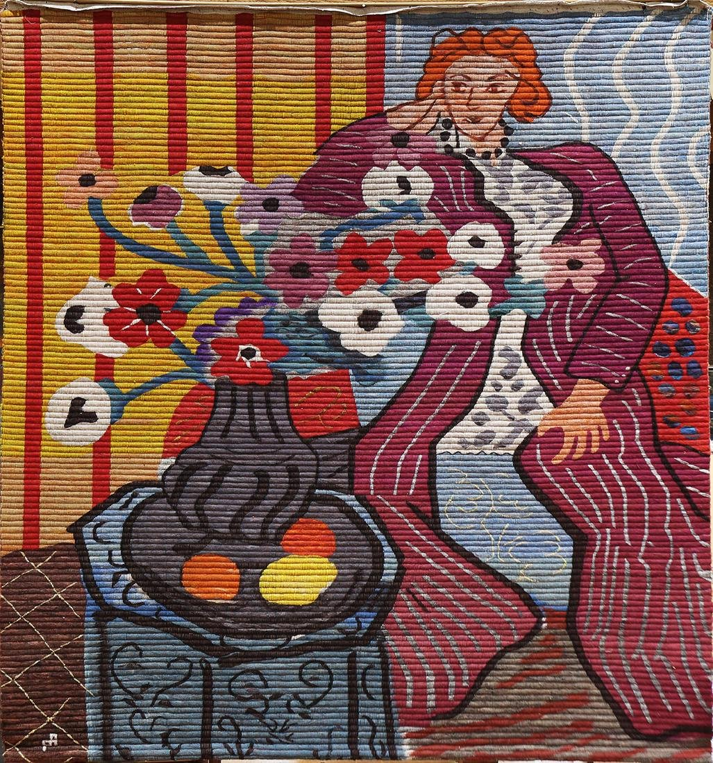 Tapestry, After Henri Matisse, Purple Robe and Anemones