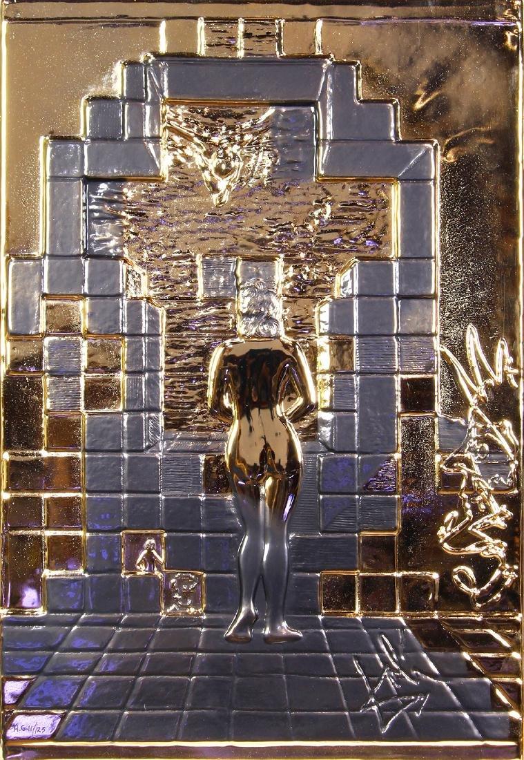 Gold Relief Sculpture, Salvador Dali