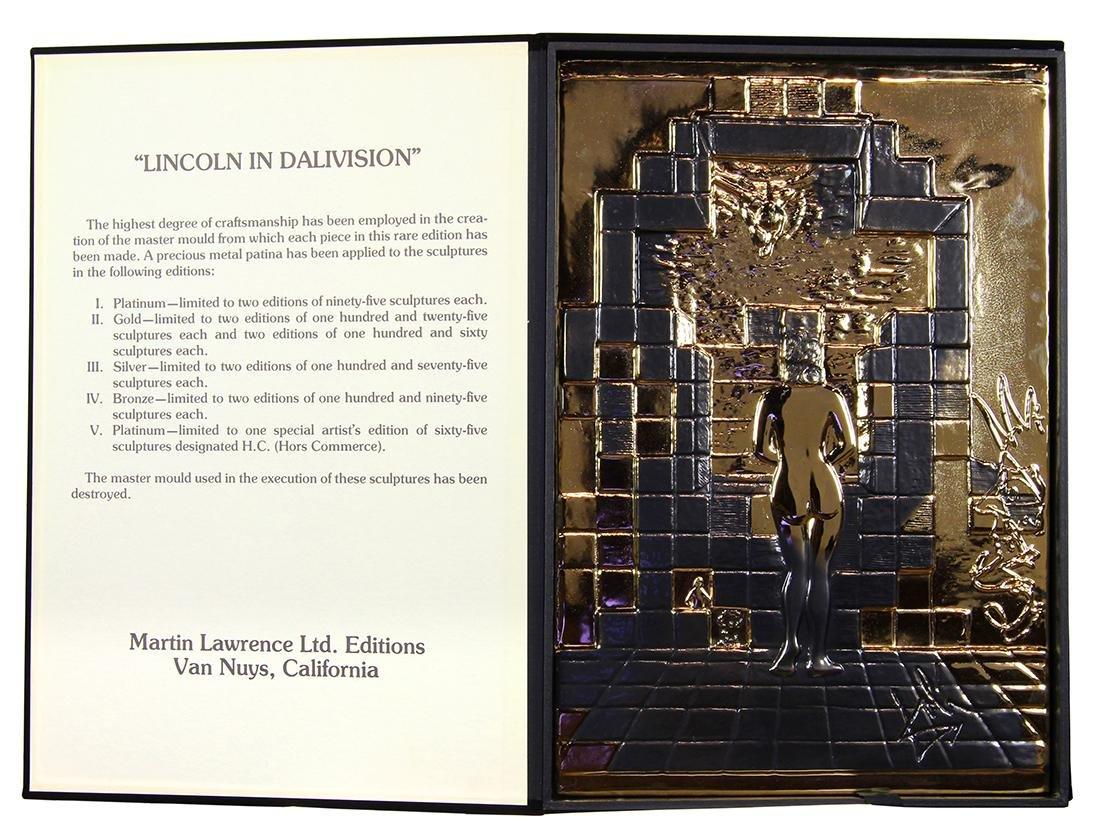 Gold Relief Sculpture, Salvador Dali - 2