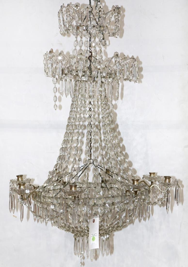 Continental double crown cut crystal chandelier